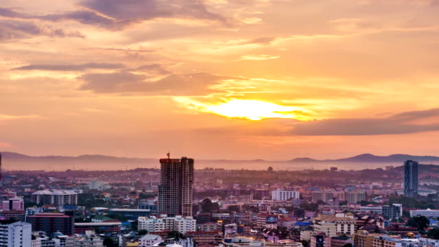 pattaya city morning time lapse - bugtiger stock videos and b-roll footage