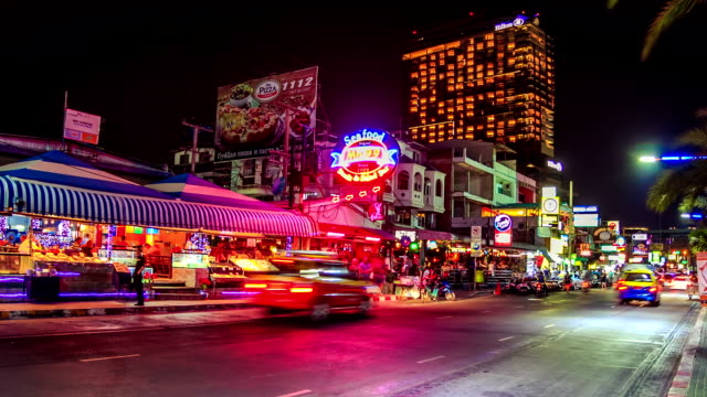 pattaya city night - pattaya stock videos & royalty-free footage
