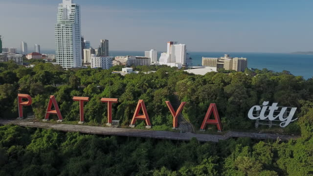pattaya city sign - pattaya stock videos & royalty-free footage