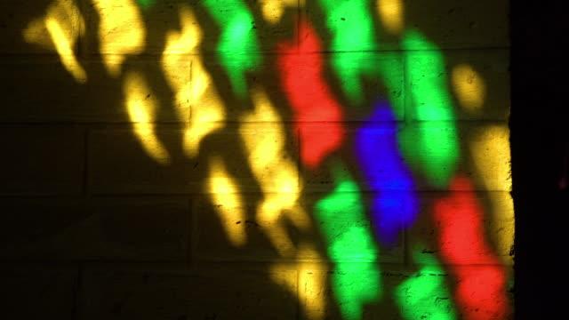 vídeos y material grabado en eventos de stock de patterned designs on a stained glass window - mosaico