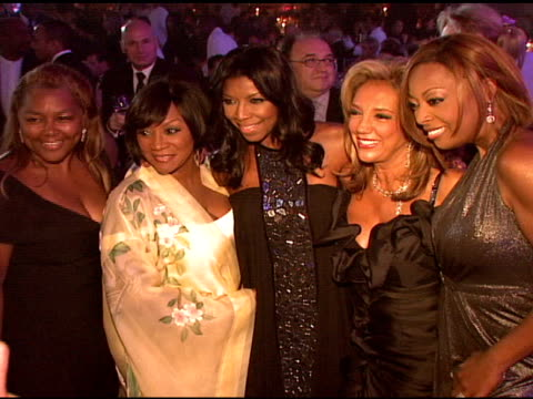 patti labelle, natalie cole, denise rich, and star jones at the denise rich marks 10th year of the g&p foundation with an evening of stars and music... - star jones stock videos & royalty-free footage