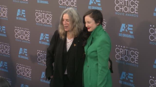 patti smith and andrea riseborough at the 20th annual critics' choice awards at hollywood palladium on january 15 2015 in los angeles california - escada stock videos & royalty-free footage