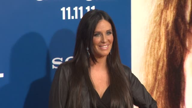 vídeos de stock, filmes e b-roll de patti stanger at the 'jack and jill' world premiere at westwood ca - westwood