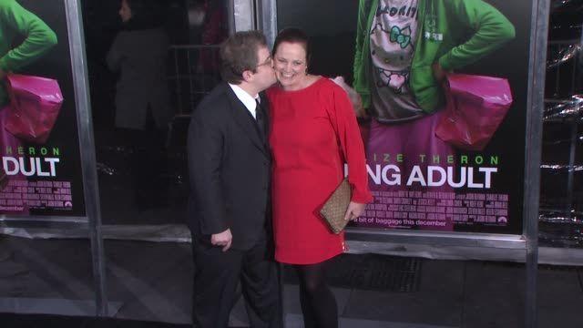 Patton Oswalt and guest at 'Young Adult' World Premiere Arrivals Red Carpet New York NY United States