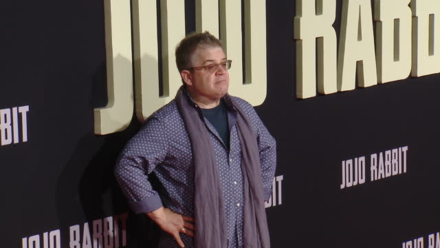 """patton oswalt at the """"jojo rabbit"""" los angeles premiere presented by fox searchlight pictures in los angeles ca - fox searchlight pictures stock videos & royalty-free footage"""
