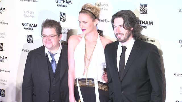 Patton Oswalt Charlize Theron and Jason Reitman at the IFP's 21st Annual Gotham Independent Film Awards Red Carpet at New York NY