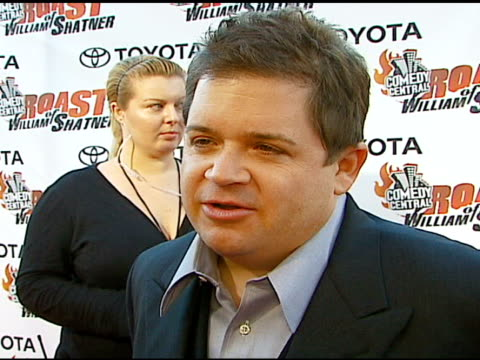 patton oswalt on roasting bill shatner, on what he thought when asked to do the roast at the comedy central's roast of william shatner at cbs studio... - william shatner stock videos & royalty-free footage