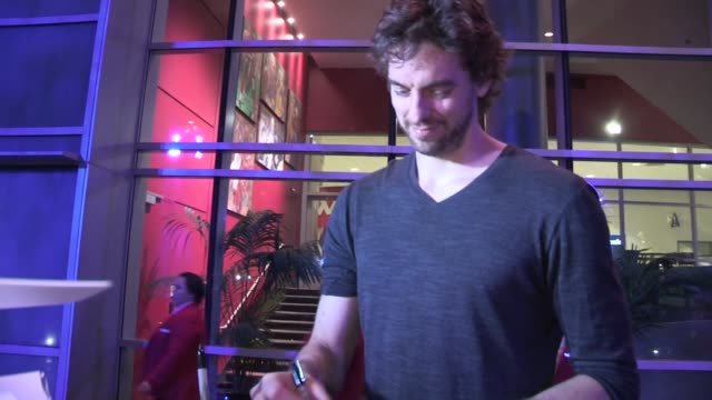 pau gasol on marc gasol advancing in nba playoffs at rolling stones 50 & counting tour in at celebrity sightings in los angeles pau gasol on marc... - playoffs stock videos & royalty-free footage