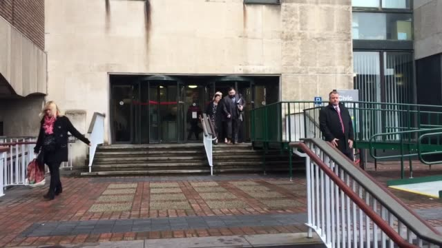 Paul and Irene Mitchelhill parents of baby Paul Mitchelhill leave the inquest into his death at Newcastle Civic Centre after they were told his death...