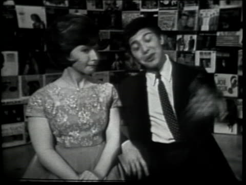 paul anka chats with brenda lee about being in show business brenda serenades elvis presley's song hound dog - brenda song stock videos & royalty-free footage