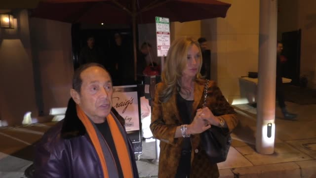 paul anka discusses liam neeson, racism and big boi's fur controversy outside craig's restaurant in west hollywood in celebrity sightings in los... - big boi stock videos & royalty-free footage