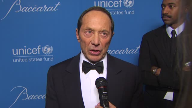 Paul Anka on Jerry being honored and on his tribute to Jerry at the UNICEF Ball Honoring Jerry Weintraub at Beverly Hills CA