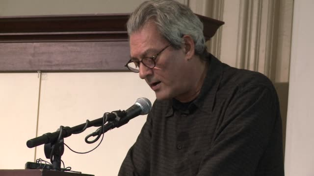 Paul Auster and Don DeLillo gave a joint reading tonight at the Barnes Noble bookstore in Manhattan's Union Square New York United States