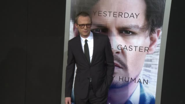 """paul bettany at the """"transcendence"""" los angeles premiere at regency village theatre on april 10, 2014 in westwood, california. - regency village theater stock videos & royalty-free footage"""