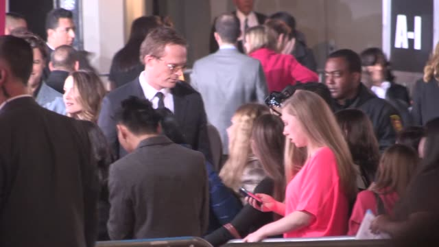 Paul Bettany greets fans at the Mortdecai Premiere in Hollywood in Celebrity Sightings in Los Angeles