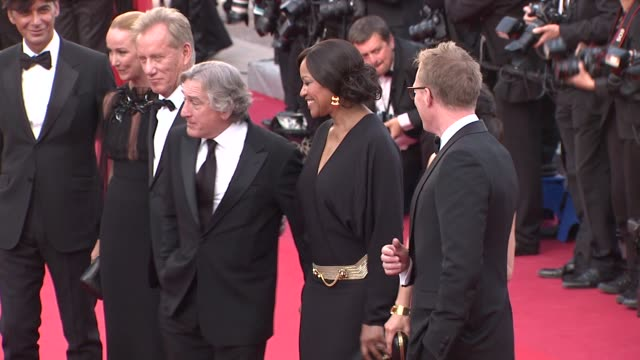 paul bettany jennifer connelly james woods robert de niro grace hightower patrizio di marco and frida giannini at once upon a time in america... - marco marco designer label stock videos and b-roll footage
