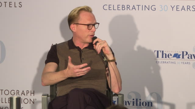 vídeos de stock, filmes e b-roll de paul bettany on the collaborative change with paul and director ron howard how paul got the role in the film at in conversation paul bettany the 71st... - ron howard