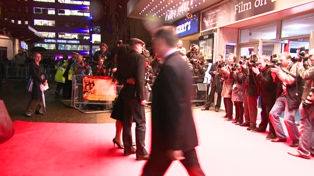 paul bettney and sophie okonedo at the london film festival - the secret life of bees premiere at london . - sophie okonedo stock videos & royalty-free footage