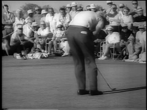 paul bondeson putting barely missing hole at doralryder open / newsreel - doral stock videos and b-roll footage