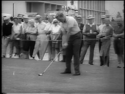 paul bondeson teeing off at doralryder open / miami / newsreel - doral stock videos and b-roll footage