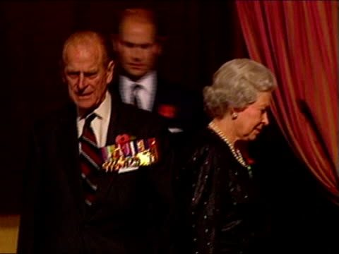paul burrell latest revelations england london albert hall queen elizabeth ii on balcony with prince philip prince edward for festival of remembrance... - royal festival hall stock videos and b-roll footage