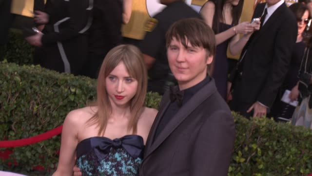 paul dano and zoe kazan at 20th annual screen actors guild awards - arrivals at the shrine auditorium on in los angeles, california. - shrine auditorium stock videos & royalty-free footage
