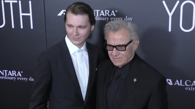 Paul Dano Harvey Keitel at the Premiere Of Fox Searchlight Pictures' Youth at DGA Theatre in West Hollywood in Celebrity Sightings in Los Angeles