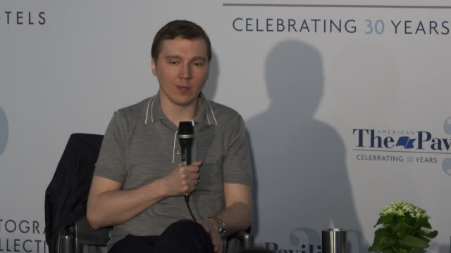 paul dano on how acting help him decide what he wanted his sets to feel like and how they worked working with his actors and crew and working with... - 2018 video stock e b–roll