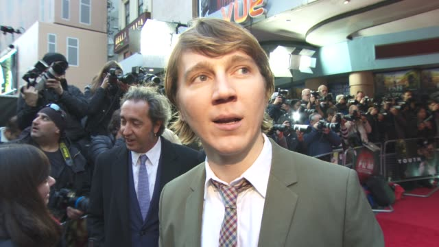 INTERVIEW Paul Dano on working with Michael Caine and Harvey Keitel at 'Youth' Gala BFI London Film Festival at Vue Leicester Square on October 15...