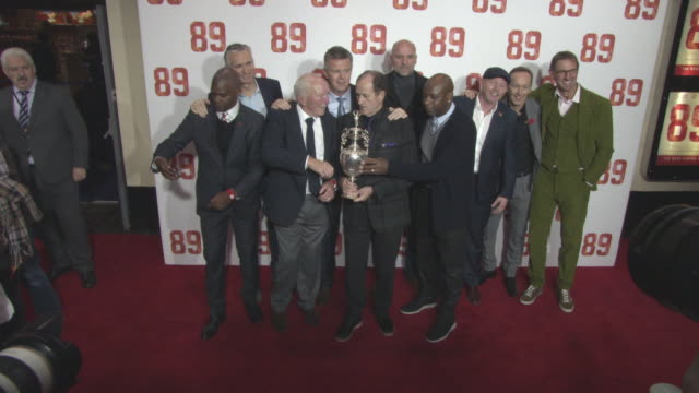 Paul Davis Alan Smith a guest David O'Leary George Graham Steve Bould Michael Thomas Perry Groves Lee Dixon Tony Adams at '89' World Premiere on...