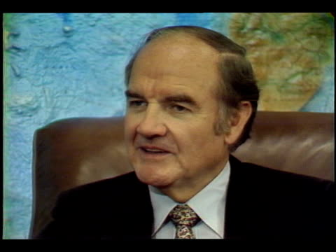 """paul duke asks us senator george mcgovern , """"did you often think that you needed more time to think?"""" senator mcgovern says, """"absolutely. you know i... - legislator stock videos & royalty-free footage"""