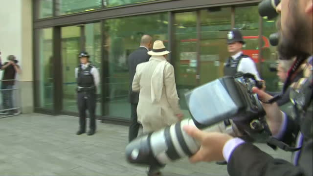 paul gadd also known as gary glitter arrives at london courthouse on june 23 2014 in london england - gary glitter stock videos & royalty-free footage