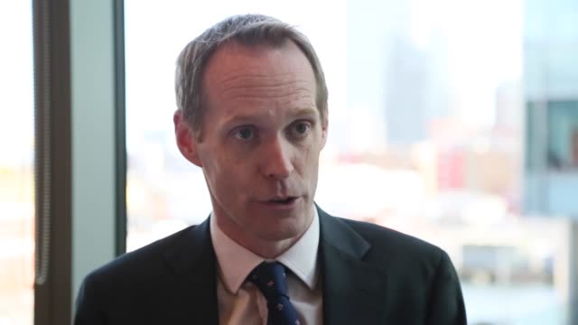 paul gamble analytical heads of emerging europe sovereign ratings and senior director at fitch ratings talks to journalists in london england on... - newly industrialized country stock videos and b-roll footage