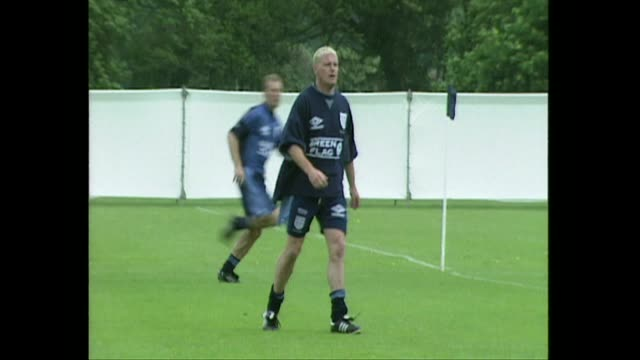 paul gascoigne training with england football team for euro 96, 1996 - 1996 stock videos & royalty-free footage