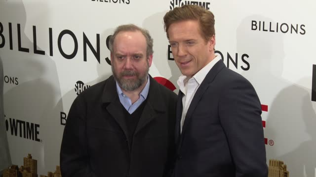Paul Giamatti and Damian Lewis at Billions Series Premiere at Museum of Modern Art on January 07 2016 in New York City