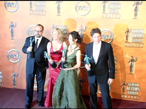Paul Giamatti Virginia Madsen Sandra Oh and Thomas Haden Church winners for Outstanding Cast in a Motion Picture for 'Sideways' at the 2005 Screen...