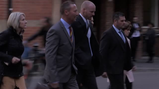PC Paul Greenfield PC Mark Fannon and PC Paul Adey arrive at Birmingham Crown Court where a jury is deliberating in their perjury and perverting the...