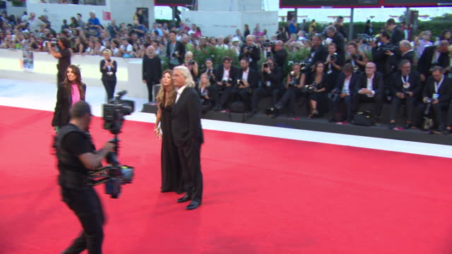 paul greengrass joanna kay at '22 july' red carpet arrivals 75th venice film festival on september 5 2018 in venice italy - film festival stock videos & royalty-free footage
