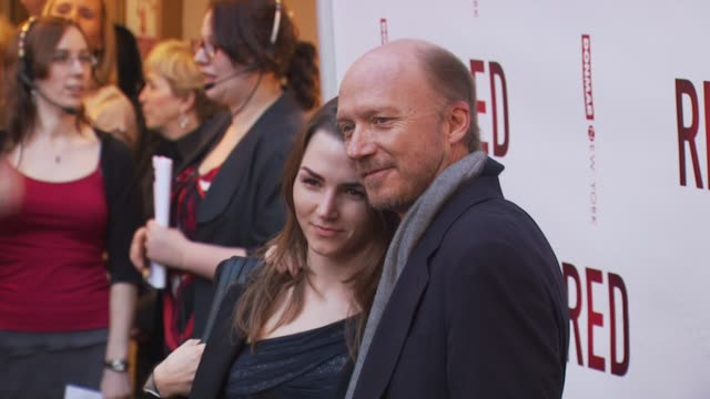 paul haggis and daughter at the 'red' broadway opening night arrivals at new york ny - paul haggis stock videos and b-roll footage
