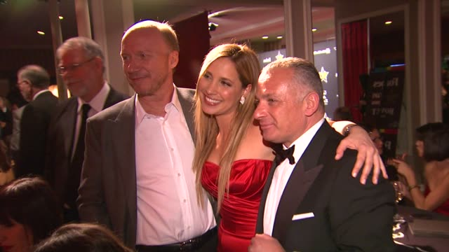 paul haggis and daya fernandezat 5th annual hollywood domino gala presented by bovet 1822 benefitting artists for peace and justice on 02/23/12 in... - paul haggis stock videos and b-roll footage