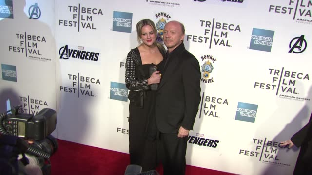 paul haggis and guest at 'marvel's the avengers' premiere 2012 tribeca film festival closing night on 4/28/2012 in new york ny united states - paul haggis stock videos and b-roll footage