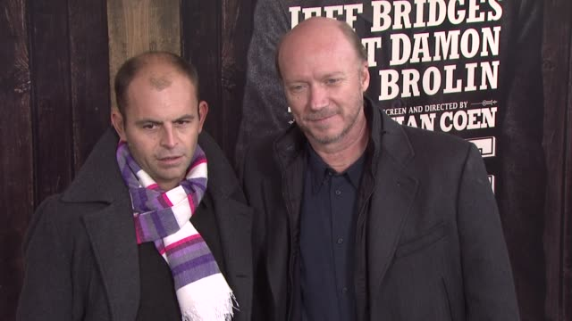 paul haggis and guest at the 'true grit' new york premiere at new york ny - paul haggis stock videos and b-roll footage