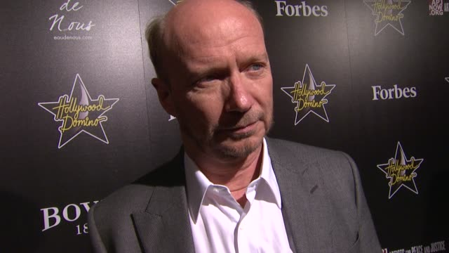 paul haggis at 5th annual hollywood domino gala presented by bovet 1822 benefitting artists for peace and justice on 02/23/12 in west hollywood ca - paul haggis stock videos and b-roll footage