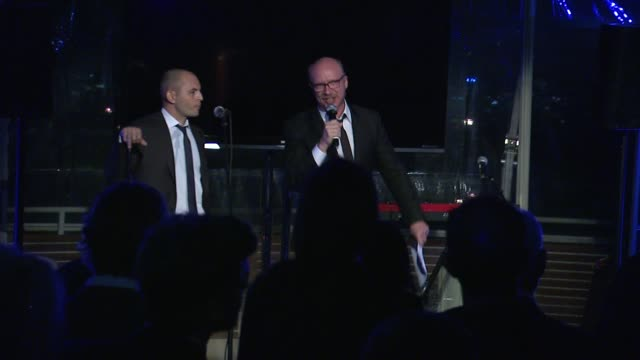 speech paul haggis at 7th annual hollywood domino bovet 1822 gala benefitting artists for peace and justice in los angeles ca - paul haggis stock videos and b-roll footage