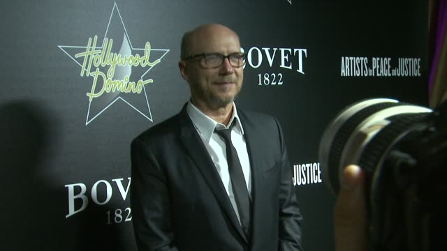 paul haggis at the 7th annual hollywood domino bovet 1822 gala benefiting artists for peace and justice at sunset tower hotel on february 27 2014 in... - paul haggis stock videos and b-roll footage