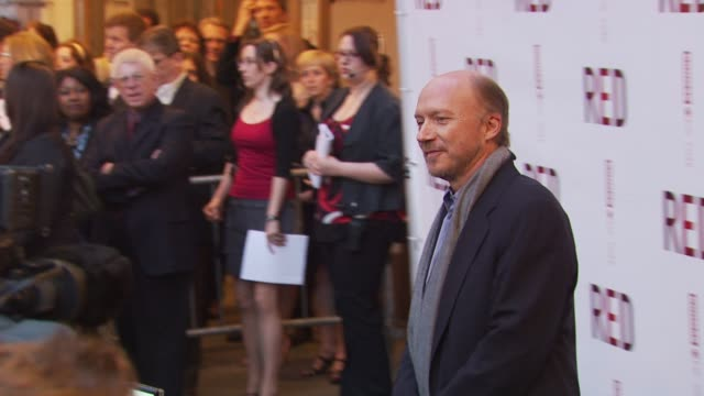 paul haggis at the 'red' broadway opening night arrivals at new york ny - paul haggis stock videos and b-roll footage