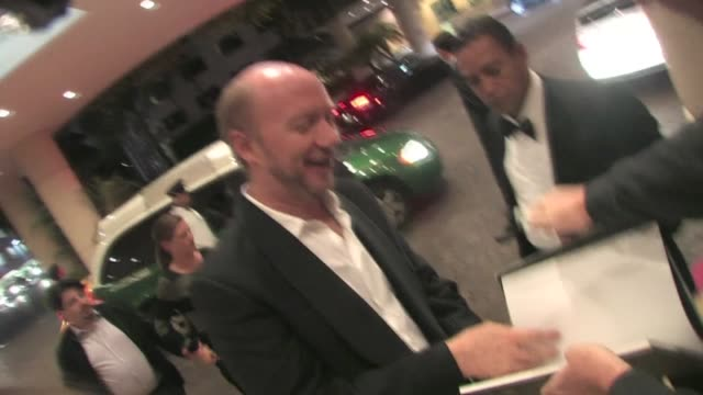 paul haggis greets fans in beverly hills - paul haggis stock videos and b-roll footage