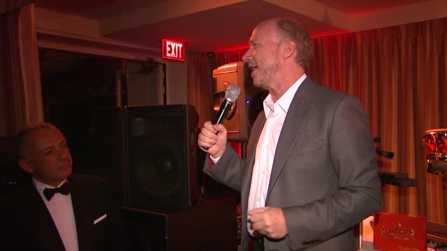 paul haggis on the importance of this event at 5th annual hollywood domino gala presented by bovet 1822 benefitting artists for peace and justice on... - paul haggis stock videos and b-roll footage