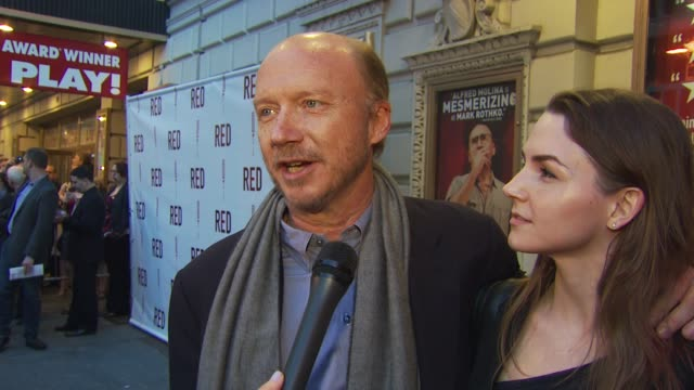 paul haggis talks about his first broadway show and how his daughter is his date at the 'red' broadway opening night arrivals at new york ny - premiere stock videos & royalty-free footage