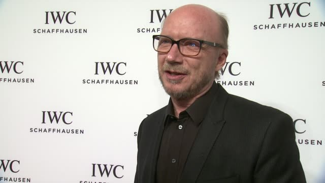 interview paul haggis talks about tribeca and iwc at iwc schaffhausen third annual for the love of cinema dinner during tribeca film festival on... - paul haggis stock videos and b-roll footage